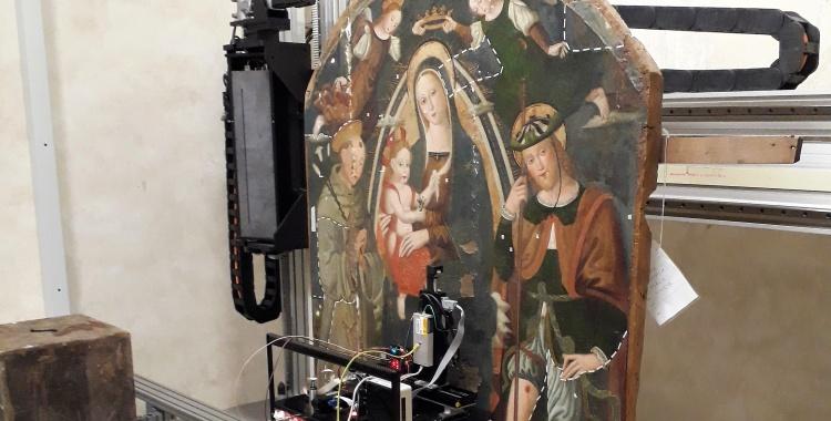 Lo scanner XRF di CHNet al CCR di Venaria